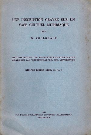 Une inscription gravée sur un vase cultuel mithriaque